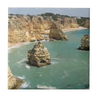 Algarve, Portugal, Benagil beach and rocks Tile