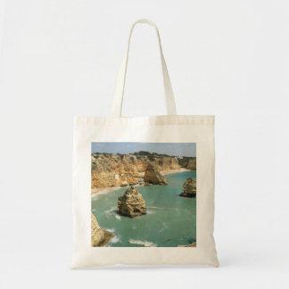 Algarve, Portugal, Benagil beach and rocks Tote Bag