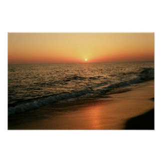 Algarve sunset poster