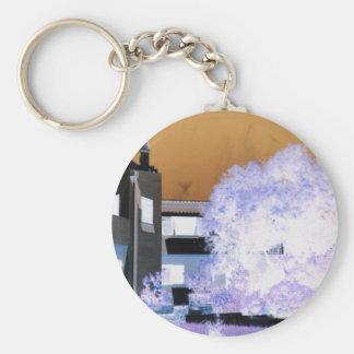 Algarve Villa Digital Image Basic Round Button Keychain
