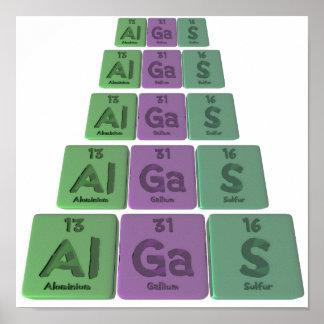 Algas-Al-GA-s-aluminio-galio-Azufre Posters