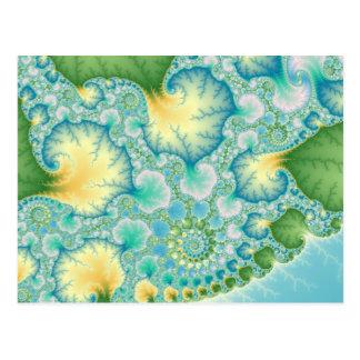 Algas - fractal postal