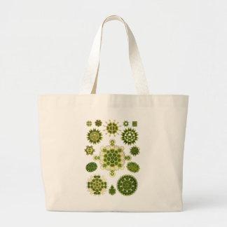 Algas verdes bolsa tela grande