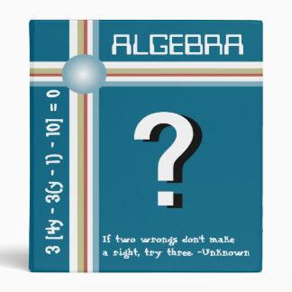 "Algebra - 1"" binder"