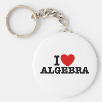 Algebra Basic Round Button Keychain
