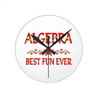 Algebra Best Fun Round Wallclock