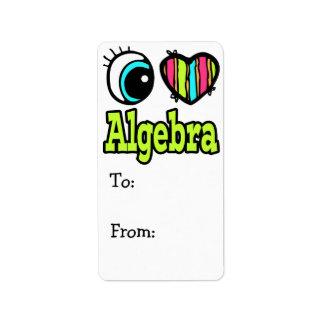 Álgebra brillante del amor del corazón I del ojo Etiquetas De Dirección