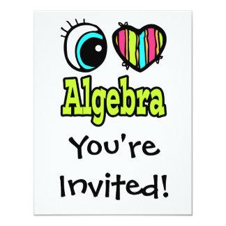 """Álgebra brillante del amor del corazón I del ojo Invitación 4.25"""" X 5.5"""""""