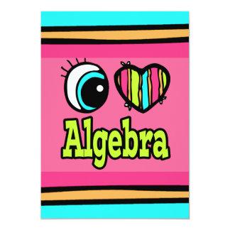 """Álgebra brillante del amor del corazón I del ojo Invitación 5"""" X 7"""""""