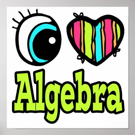 Álgebra brillante del amor del corazón I del ojo Póster