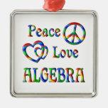Álgebra del amor de la paz adorno de navidad
