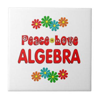 Álgebra del amor de la paz teja  ceramica