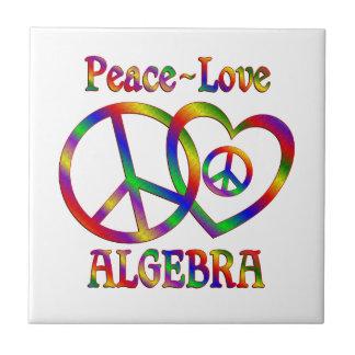 Álgebra del amor de la paz teja cerámica