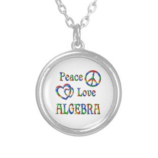 Álgebra del amor de la paz collares personalizados