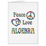 Álgebra del amor de la paz felicitación