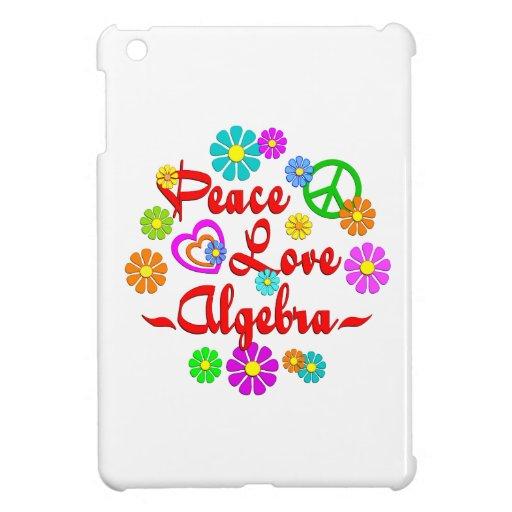 Álgebra del amor de la paz iPad mini coberturas