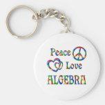 Álgebra del amor de la paz llaveros