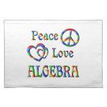 Álgebra del amor de la paz mantel
