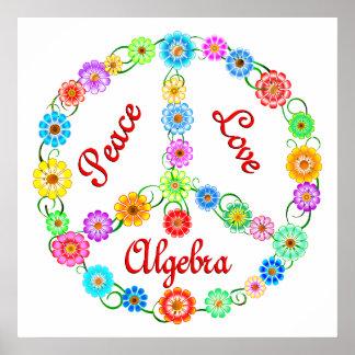 Álgebra del amor de la paz poster