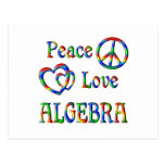 Álgebra del amor de la paz postales