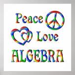 Álgebra del amor de la paz posters