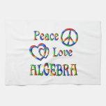 Álgebra del amor de la paz toallas
