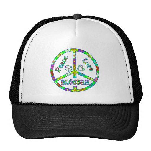 Álgebra del signo de la paz gorra