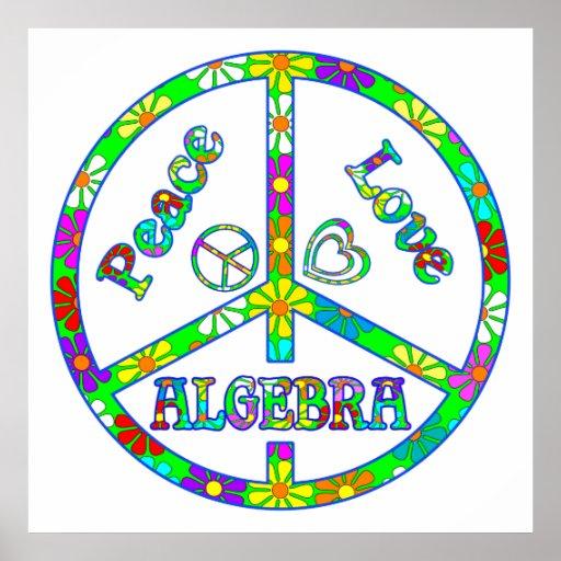 Álgebra del signo de la paz impresiones