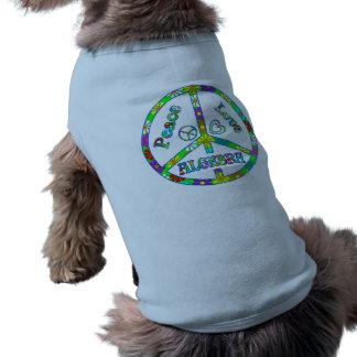 Álgebra del signo de la paz ropa de mascota