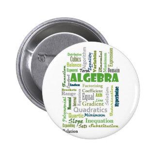 Algebra_Display_Green Pinback Button