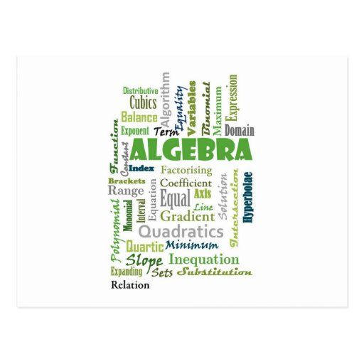 Algebra_Display_Green Postales