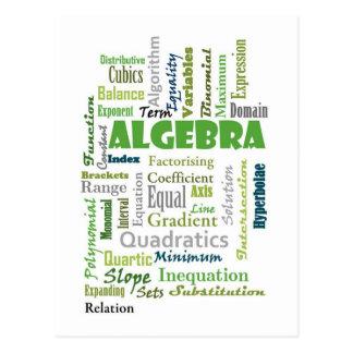 Algebra_Display_Green Tarjeta Postal