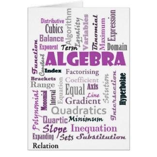 Algebra_Display_Purple Tarjeta De Felicitación