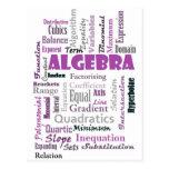 Algebra_Display_Purple Tarjeta Postal