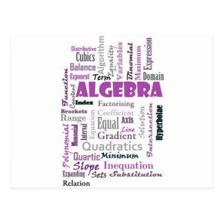 Algebra_Display_Purple Postales