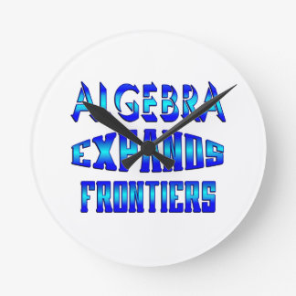 Algebra Expands Frontiers Round Wall Clock