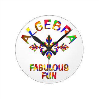 Algebra Fabulous Fun Wall Clock
