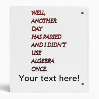 Algebra funny text binders