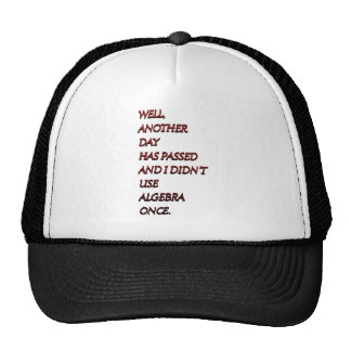 Algebra funny text trucker hat