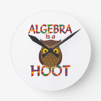 Algebra is a Hoot Round Wallclock