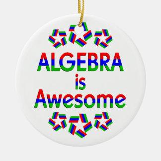 Algebra is Awesome Ceramic Ornament