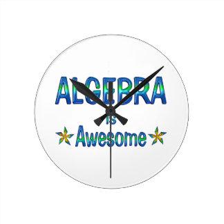 Algebra is Awesome Round Clocks