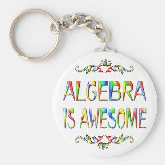 Algebra is Awesome Basic Round Button Keychain