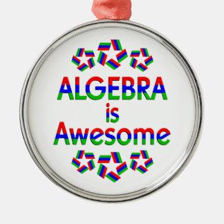 Algebra is Awesome Metal Ornament