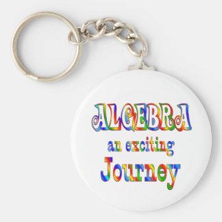 ALGEBRA is Exciting Basic Round Button Keychain