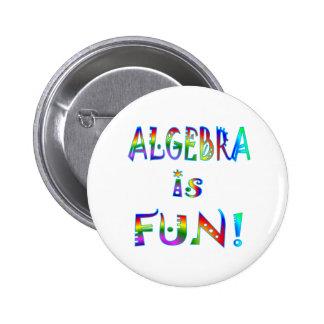 Algebra is Fun Pinback Buttons
