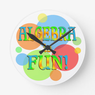 Algebra is Fun Round Wall Clock