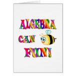 Algebra is Fun Greeting Cards