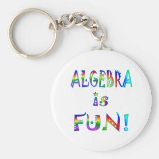 Algebra is Fun Basic Round Button Keychain