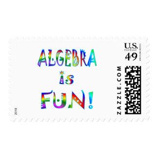 Algebra is Fun Postage Stamp